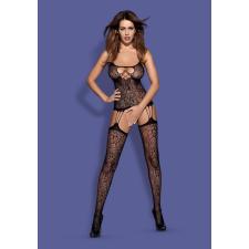 Obsessive F208 - mintás, ujjatlan csipke szett (fekete) bugyi, női alsó