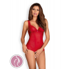 Obsessive Rougebelle crotchless teddy red L/XL