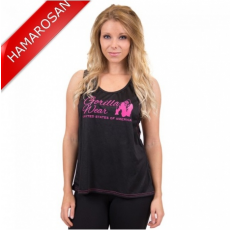 ODESSA CROSS BACK TANK TOP - BLACK/PINK (BLACK/PINK) [M]