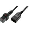 OEM IEC Tápkábel Fekete 1m IEC-PC1284