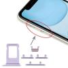 OEM Sim kártya tartó és oldalgomb garnitúra Iphone 11, lila