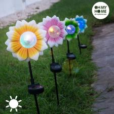 Oh My Home Színes LED Napelemes Virág kültéri világítás