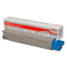 Oki 43459331 Lézertoner C3300, 3400, 3450 nyomtatókhoz, OKI kék, 2,5k nyomtatópatron & toner