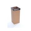 ÖKUKA Szelektív hulladékgyûjtõ, újrahasznosított, 60 l, RECOBIN Slim, fekete