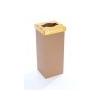 ÖKUKA Szelektív hulladékgyûjtõ, újrahasznosított, 60 l, RECOBIN Slim, sárga