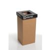 """ÖKUKA Szelektív hulladékgyűjtő, újrahasznosított, 20 l, RECOBIN """"Mini"""", fekete"""
