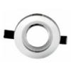 - Olcsó üveg spot lámpatest (1084OSZK), kör, fix, ezüst