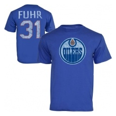Old Time Hockey Edmonton Oilers fĂŠrfi póló blue #31 Grant Fuhr Legenda NHL - XXL