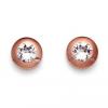 Oliver Weber Fülbevaló Swarovski kristályokkal Oliver Weber Diamond Rosegold 22066RG
