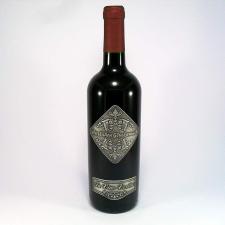 Óncímkés bor Német felirattal Herzlichen Glünkwunsch pezsgős pohár