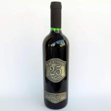 Óncímkés bor Német felirattal Silberhochzeit 25 bor