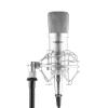 oneConcept Mic-700, stúdió mikrofon, Ø 34 mm, kardioid, pók, szél elleni védelem, XLR, ezüst