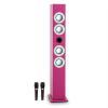 oneConcept Tallgirl karaoke hangfal, bluetooth, USB, SD, MP3, FM, AUX, 2 mikrofon