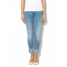 Only , Carmen Skinny fit farmernadrág, Mosott hatású kék, W25-L30 (15147207-LIGHT-BLUE-DENIM-W25-L30)
