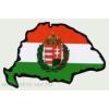 Öntapadó autós papír külső matrica, koszorús címeres Nagy-Magyarország alapon 8x5 cm