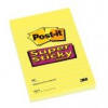 Öntapadó jegyzettömb, 76x127 mm, 90 lap, 3M POSTIT Super Sticky, pipacs