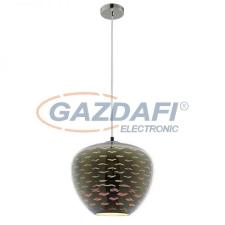 Optonica PD9024 3D üveg függesztett csillár,sirály mintás,króm- 40W E27 290x250mm világítás