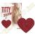 Orion Titty Sticker csillogó mellbimbó matrica - szív - piros