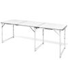Összecsukható Állítható Kemping Alumínium Asztal 180 x 60 cm