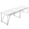 Összecsukható Állítható Kemping Alumínium Asztal 240 x 60 cm