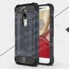 OTT! MAX DEFENDER mûanyag védõ tok / hátlap - SÖTÉTKÉK - szilikon belsõ, ERÕS VÉDELEM! - Motorola Moto M