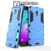 OTT! MOBILE TRANSFORM műanyag védő tok / hátlap - VILÁGOSKÉK - szilikon betétes, kitámasztható - ERŐS VÉDELEM! - SAMSUNG Galaxy J3 (2018)
