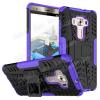 OTT! VROOM mûanyag védõ tok / hátlap - FEKETE / LILA - AUTÓGUMI MINTÁS - szilikon betétes, asztali tartó funkciós, ERÕS VÉDELEM! - ASUS Zenfone 3 Deluxe (ZS570KL)