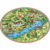 Ovális Balaton térkép matrica 12x8,5 cm