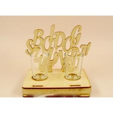 Pálinkás pohár szett születésnapi 2db - Boldog születésnapot feliratos -Születésnapi ajándékok ajándéktárgy