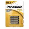 Panasonic Alkaline Power LR03 AAA elem MN2400 4 db (ár/bliszter)
