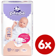 Panda Mini - 50 db x 6 (300 db) pelenka
