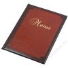 PANTA PLAST Étlaptartó, A4, bőr hatású,  PANTA PLAST Keretes , barna-bordó (INP3172705)