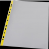 PANTA PLAST Genotherm, lefűzhető, színes szélű, fényes felületű,  A4, 40 mikron, PANTA PLAST, sárga