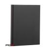 PANTA PLAST Gyûrûs könyv, panorámás, 4 gyûrû, 25 mm, A4, PP/karton, PANTA PLAST, fekete