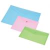 PANTA PLAST Irattartó tasak, A5, pasztell rózsaszín, patentos