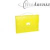 PANTA PLAST Irattartó táska, műanyag, A4, 1 rekeszes, PP, PANTA PLAST Omega, sárga