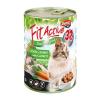 Panzi Állateledel konzerv PANZI FitActive felnőtt macskának liba- és nyúlhússal, répával 415 g