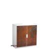 PAPERFLOW Szekrény, rolós ajtós, 2 polcos , paperflow, rozsdamintás