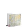 PAPERFLOW Szekrény, rolós ajtós, 2 polcos,paperflow, térkép mintás