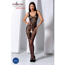 Passion BS069 - exkluzív, mintás, nyitott necc overall (fekete) - S-L body