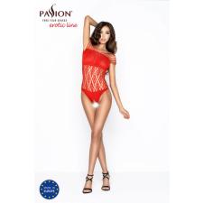 Passion Passion BS035 - extrém vállpántos, nyitott necc body (piros) - S-L body