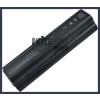 Pavilion dv6300 Series 6600 mAh 9 cella fekete notebook/laptop akku/akkumulátor utángyártott