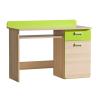 PC asztal, kőrisfa/zöld, EGO L10