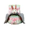 Pelenkatorta Webshop Babaváró ajándék ötlet: Pelenkatorta kislánynak nyuszival, két emeletes