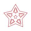 Pentacolor Kft. Pentart Fafigura, 5 db/csomag - csillag 22959