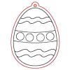 Pentacolor Kft. Pentart Fafigura, 5 db/csomag - tojás 22802