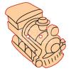 Pentacolor Kft. Pentart Fafigura gomb 23422 – játékvonat 10 db/csomag