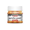 Pentacolor Kft. Pentart Metál narancs színű akril bázisú hobbi festék 50 ml