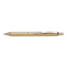 Pentel Rollertoll 0,35mm fém arany test, Pentel Energel BL407X-A kék toll