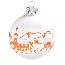 Personal Express Havas falu matt fehér 10cm - Karácsonyfadísz karácsonyi dekoráció